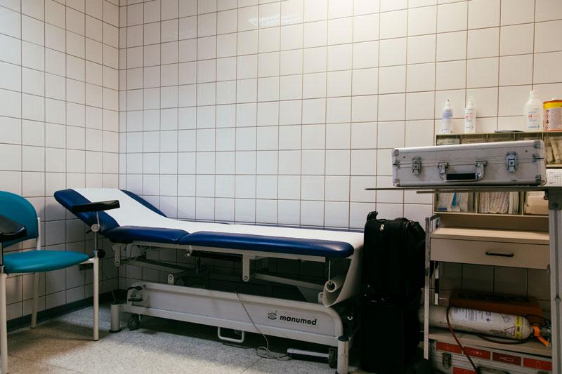 Behandlungsraum Dr. med. Fritz Kuhl Altena